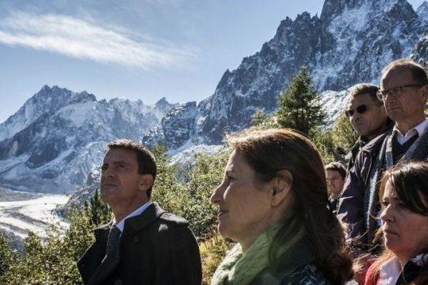 Manuel Valls et Ségolène Royal à la Mer de Glace