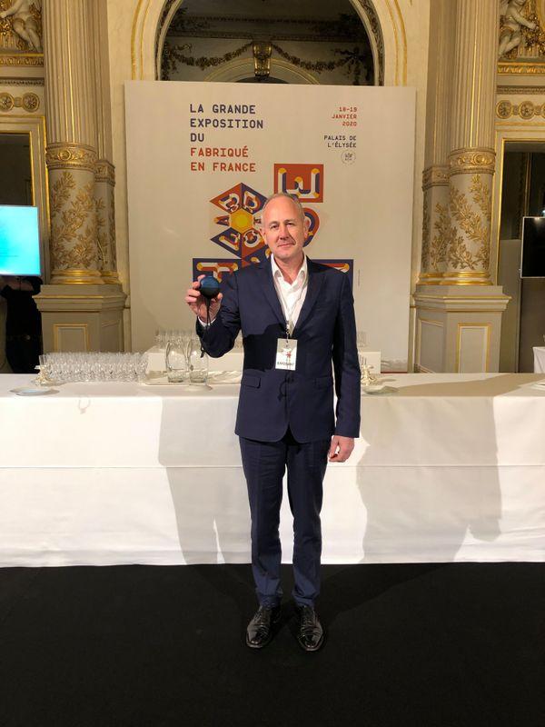 Axel Barbaud, président de Azoth Systems, à l'Élysée.
