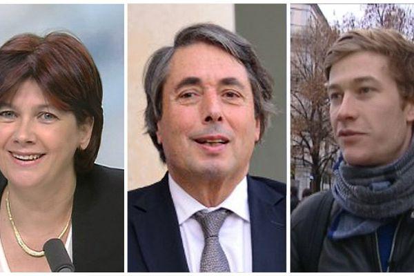 Michel Destot, députée PS de l'Isère, Bernadette Laclais, députée PS de Savoie et Benjamin Rosmini, secrétaire d'une section PS Grenobloise