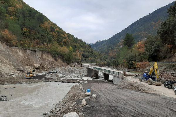 Le pont de Perthus pour relier Breil-sur-Roya à Libre est en cours de travaux.