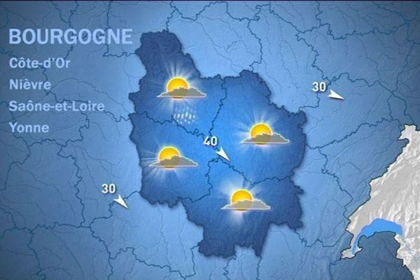 Les prévisions de Météo France mardi 13 octobre