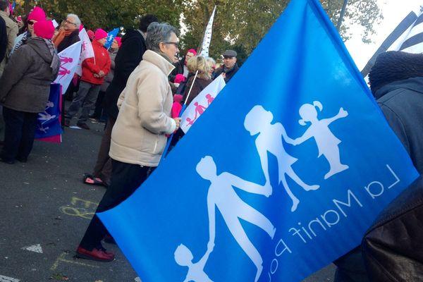 Première manifestation depuis juillet de la Manif pour tous à Nantes, le 23 novembre 2013