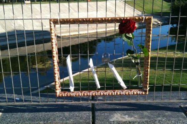 La passerelle des Barons de Caravetes, le pont des amoureux de Montpellier