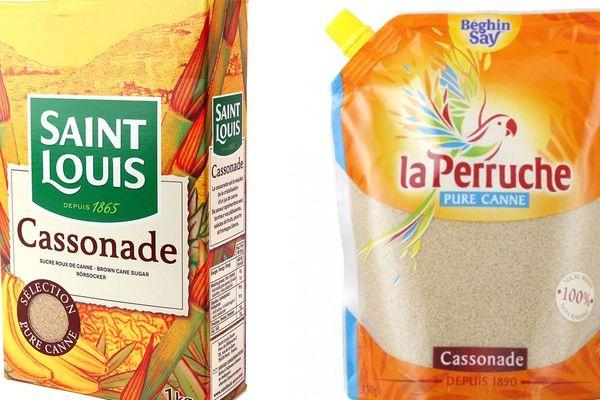"""Deux paquets de cassonade, qu'on appelle plutôt """"sucre roux"""" dans le nord de la France"""