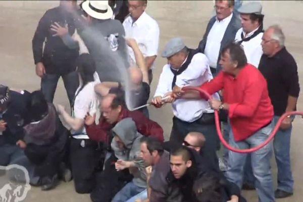 Violence lors de la manifestation anti-corrida