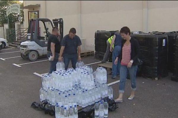 Distribution d'eau à Valentigney