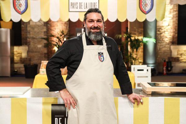 Le Chef Jean-Marc Gay-Capdevielle de Saint-Mars-la-Jaille, finaliste de l'émission le Grand concours des régions pour la meilleure recette sur France 3