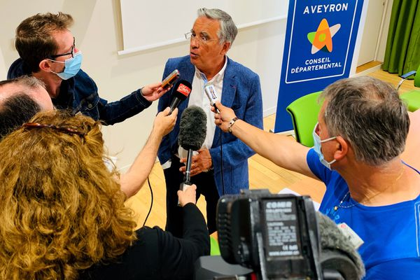 Rodez - Jean-François Galliard a annoncé ce 30 juin ne pas se présenter à sa propre succession à la présidence du Conseil Départemental de l'Aveyron. 30 juin 2021.
