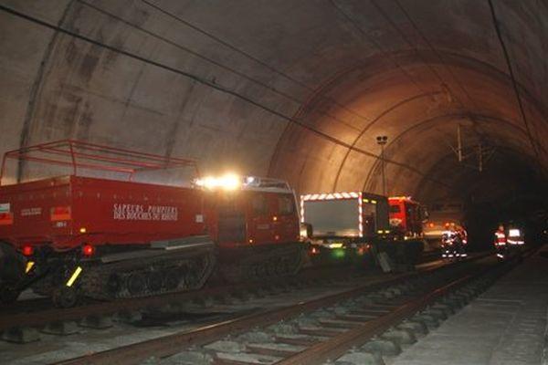 L'incendie s'est déclaré 3km après l'entrée du tunnel