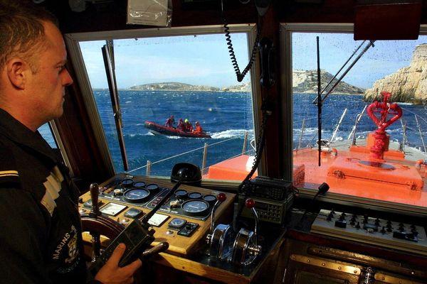 Une vedette des marins-pompiers.