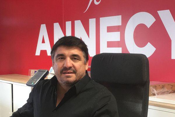 Stéphane Loison, président du FC Annecy