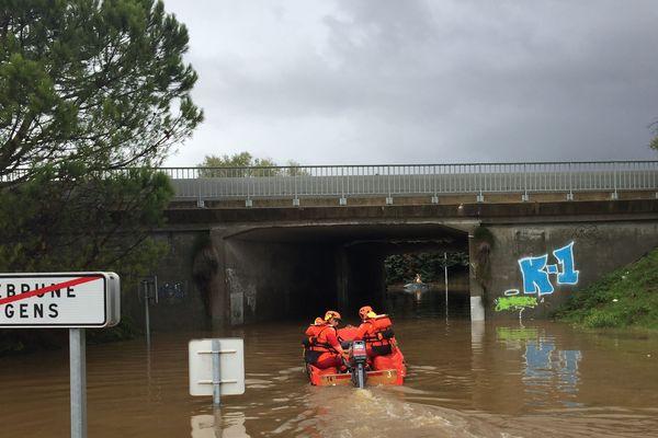 Intervention des sapeurs-pompiers du Var ce lundi 29 octobre à Roquebrune sur Argens.