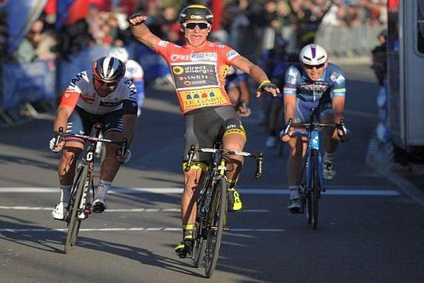 Etoile de Bessèges : Bryan Coquard remporte la 2e étape Nîmes-Méjannes-le-Clap - 4 février 2016.