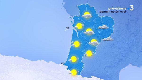 Le soleil sera bien présent sur les départements côtiers et les nuages seront un peu plus récalcitrants à l'est de la région.
