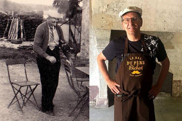 Christophe Fèvre va reprendre le flambeau laissé par son grand-père, Louis Viennot. 64 ans séparent les deux photos.