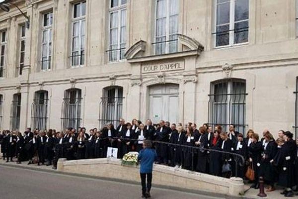 Les avocats seront mobilisés contre la réforme des retraites. Sur la photo des avocats lors d'une manifestation à Nancy pour une justice de qualité en décembre 2018.