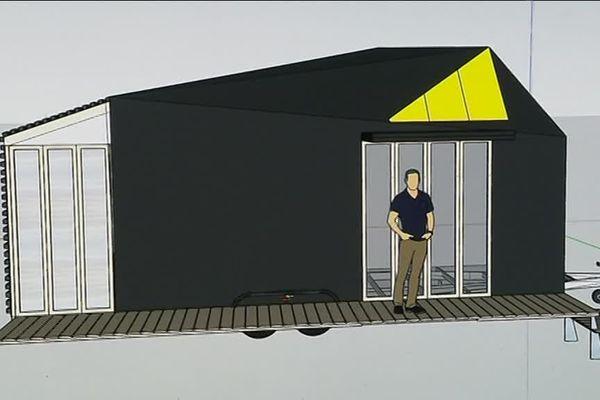 Ce prototype de tiny house est construit dans un atelier de Mézilles, dans l'Yonne.