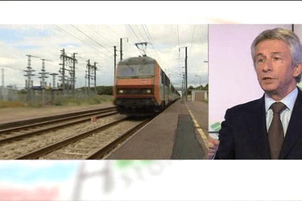 Laurent Beauvais, président de la Région Basse-Normandie réagit aux supressions envisagés, la ligne Caen-Tours, ou certains arrêts.