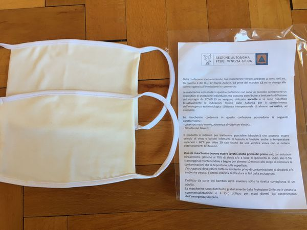 Masques et recommandations du ministère italien de la Santé.