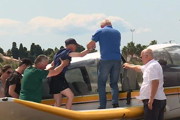 Tous les étés depuis 7 ans, l'aéroclub de Montpellier organise un baptême de l'air pour les personnes handicapées - 2 septembre 2017
