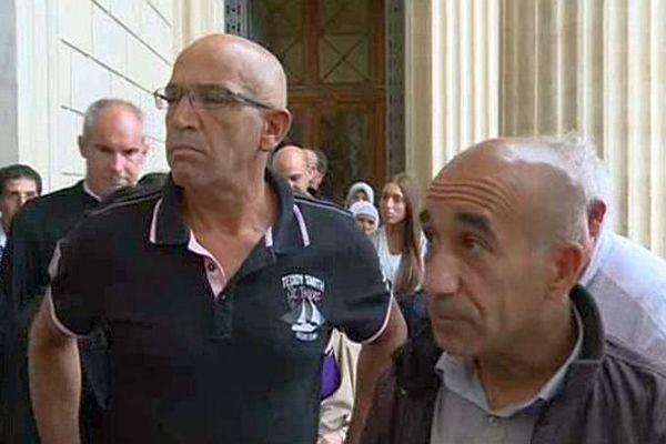 Nîmes - Azzimani et El jabri à la sortie du tribunal - 15 septembre 2015.
