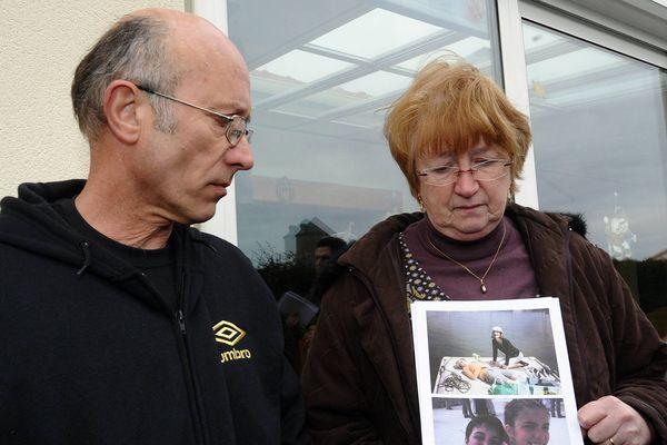 Gilles et Michelle Patron la Bernerie en Retz avril 2011. Ce matin Gilles Patron a refusé d'être photographié dans le box des accusés.