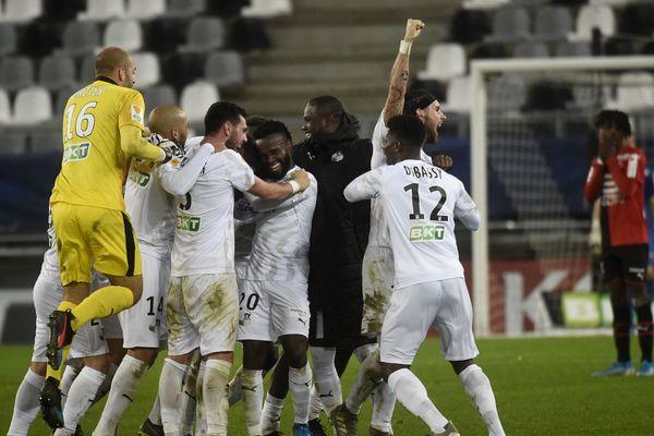 La joie des Amiénois ce mercredi soir après la victoire face à Rennes