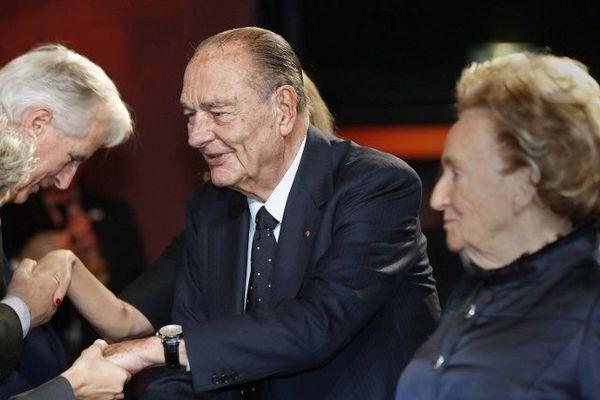 Jacques Chirac, lors de la cérémonie à la Fondation Chirac à Paris, le 21 novembre 2013