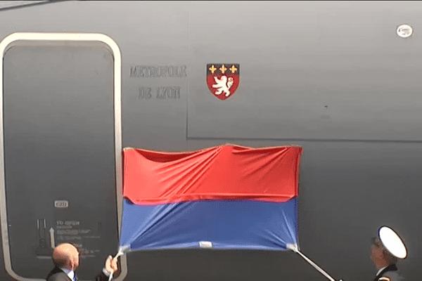 """Un Airbus A 400 M baptisé """"Métropole de Lyon"""" - 7/7/15"""