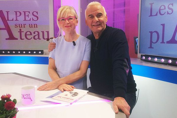 Michel Fugain et Valérie Chasteland sur le plateau de l'émission