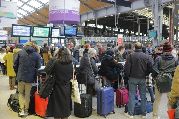 Pour arriver à l'heure en février, les trains partent plus tôt de Normandie vers Paris