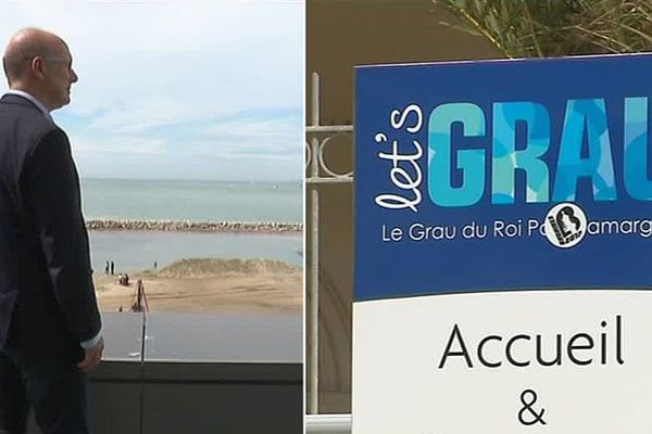 Le maire du Grau-du-Roi dans le Gard et la marque ombrelle de la ville : Let's Grau !