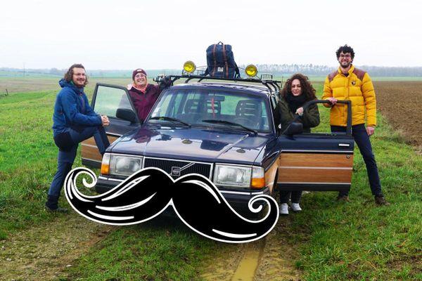 Une voiture à moustache pour aider à lutter contre les cancers masculins.