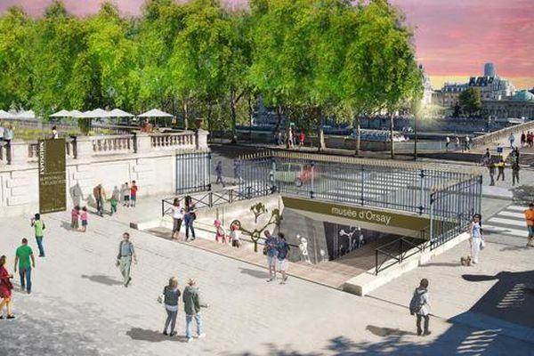 Le quai du jardin des Tuileries