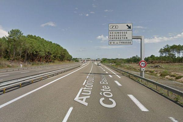 L'autoroute sera coupée en direction de Bordeaux à partir de la sortie n°8.