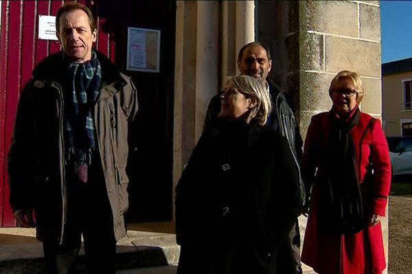 De gauche à droite : Yves Bouloux, Gisèle Jean, Philippe Brottier et Véronique Wuyts-Lepareux