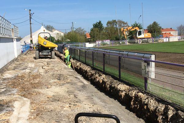 Les travaux au stade chanzy à Angoulême vont durer près de cinq mois.