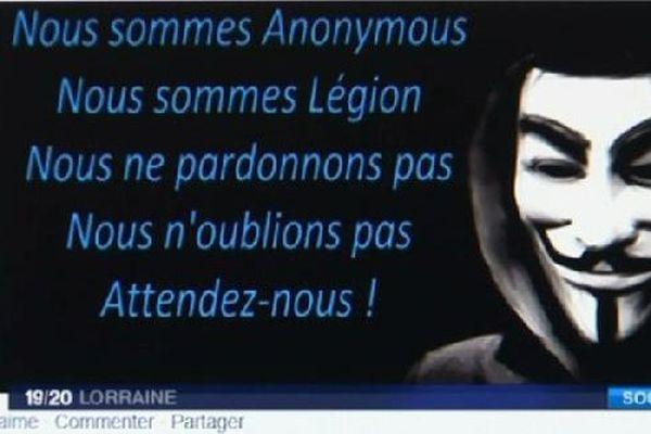Message véhiculés par les Anonymous.