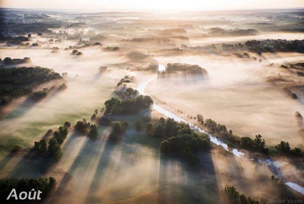 Brumes de l'aube dans le Sundgau.