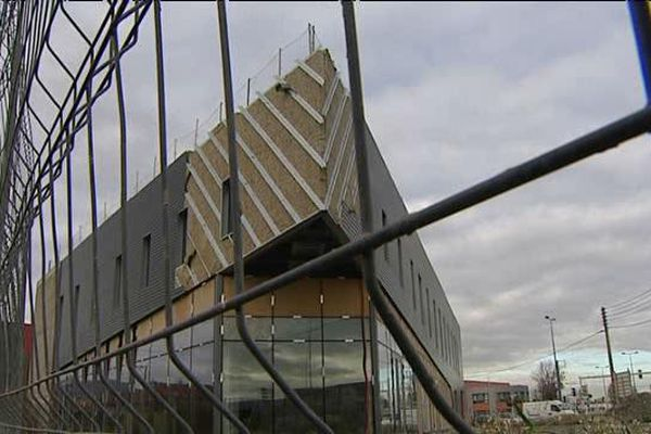 Le chantier de construction du Burger King à Aubière (63)