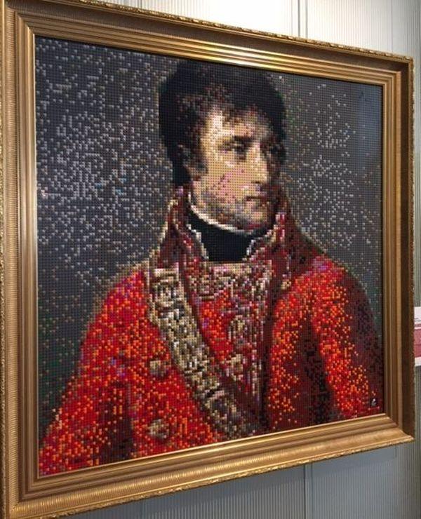 Napoléon en petites briques...21.000 pièces et 30 heures de travail ! Une exposition insolite au Musée Massena en 2018.
