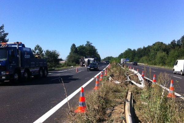 Accident A10 (km) dans le sens Tours-Poitiers