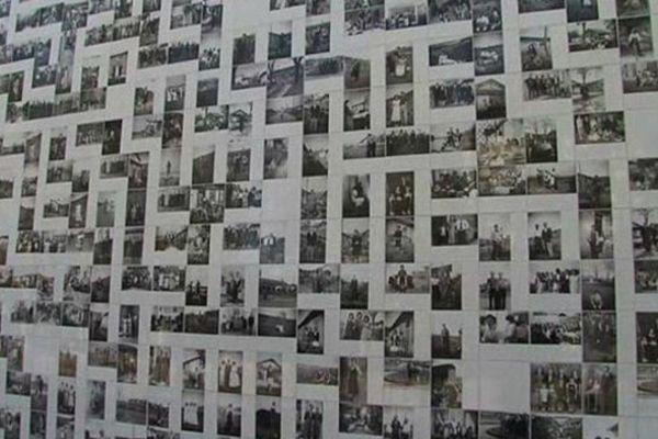 Les photos des cantonnés s'affichent sur sur la façade du Rhodia Club de Salaire sur Sanne.