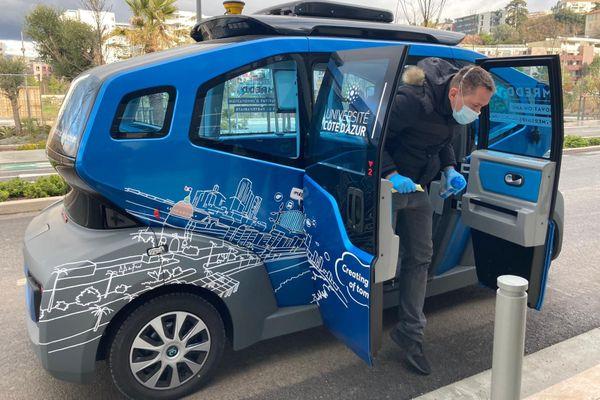 Présentation officielle de ce véhicule autonome à Nice.