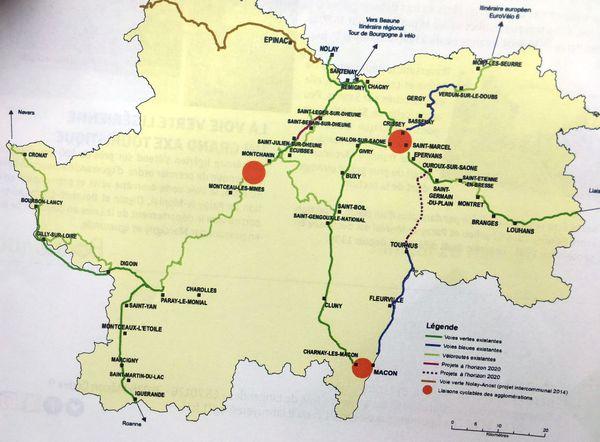 Depuis 1997, le département de Saône-et-Loire a investi plus de 30 millions d'euros dans l'étude et la création de voies vertes interdites aux engins motorisés.