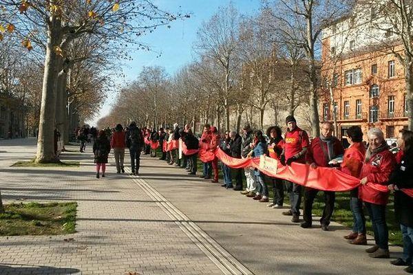 La chaîne humaine pour le climat organisée à Toulouse