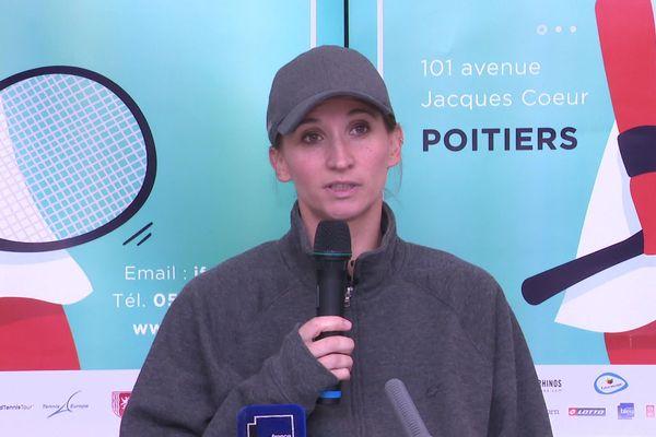 Tatiana Golovin va disputer son deuxième match depuis son retour à la compétition aux Internationaux de tennis de Poitiers, ce mercredi 22 octobre 2019.