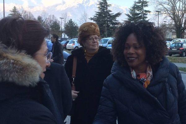 Arrivée de la ministre des sports, Laura Flessel, ce matin à l'Université Grenoble Alpes