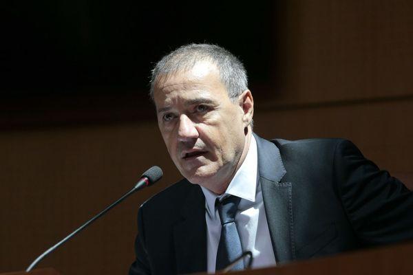 Archives - Le président de l'Assemblée de Corse, Jean-Guy Talamoni, à la tribune le 28 juillet 2016.