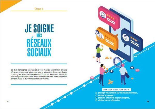 """Entrée du chapitre """"Je soigne mes réseaux sociaux"""" au sein de l'ouvrage """"Je réussis mon apprentissage"""", paru aux éditions Vuibert en 2020"""